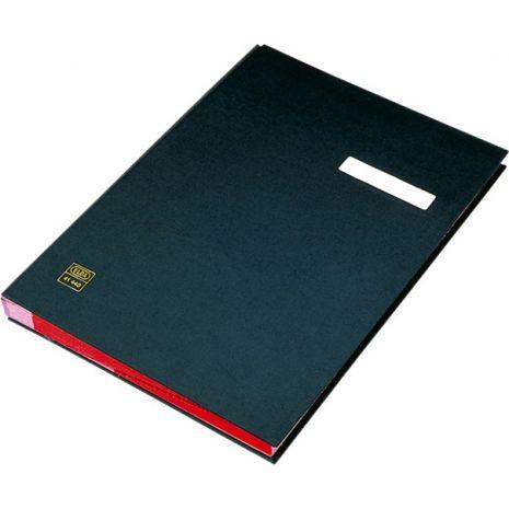 Mapa din carton pentru semnaturi cu 20 compartimente, negru, ELBA