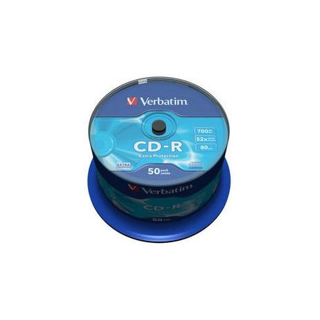 CD-R, 700MB, 52X, 50 buc/bulk, VERBATIM Extra Protection
